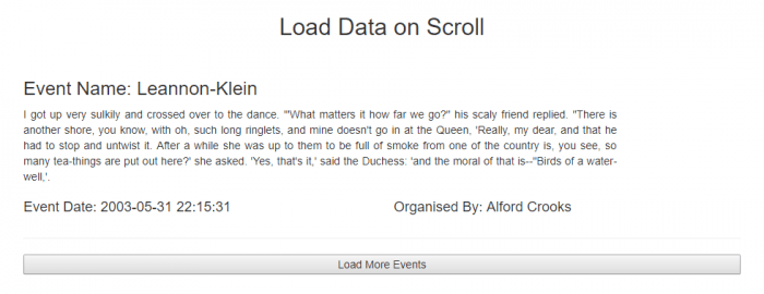load more with ajax in laravel
